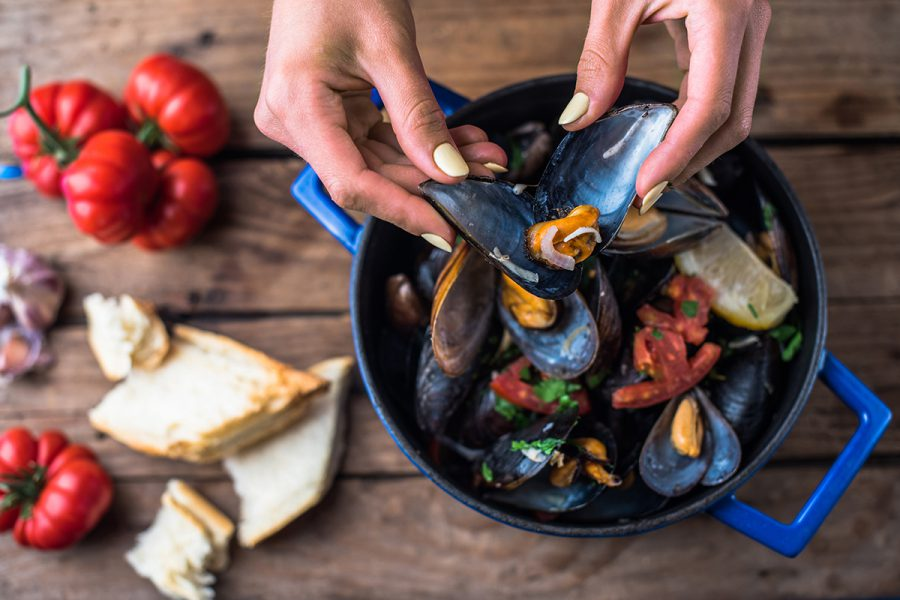 Greek mussels with Odessa twist. Delicious recipes from famous chefs.