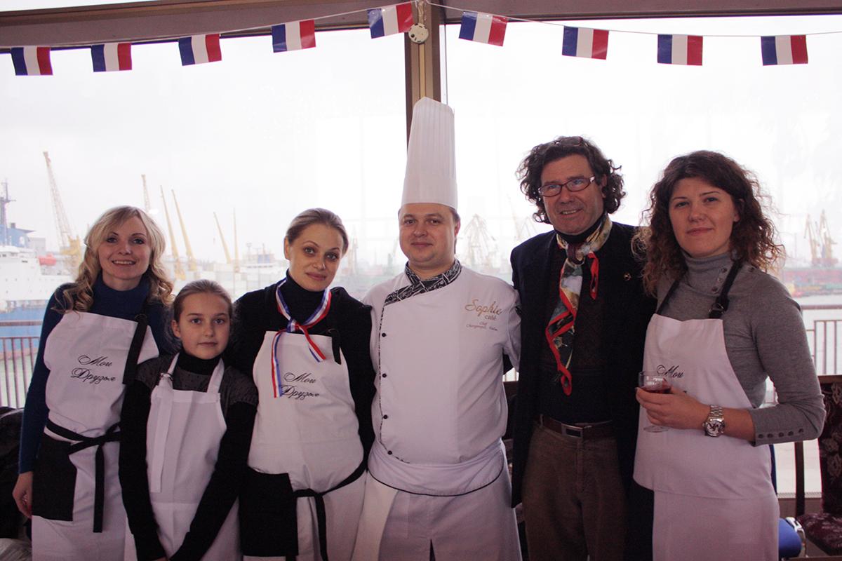 Charity Christmas Fair. Cooking school in Ukraine.