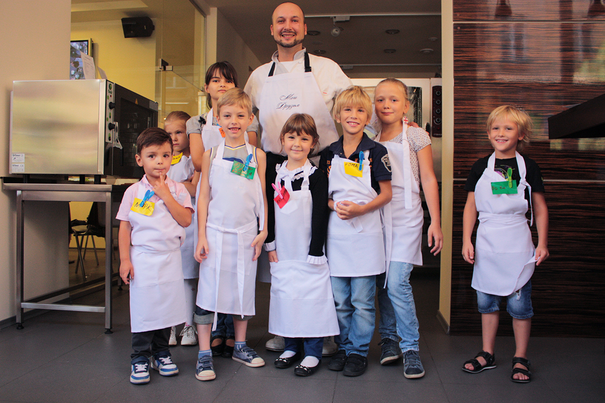"""Cooking lesson for children. Сooking school """"My Odessa Cuisine""""."""