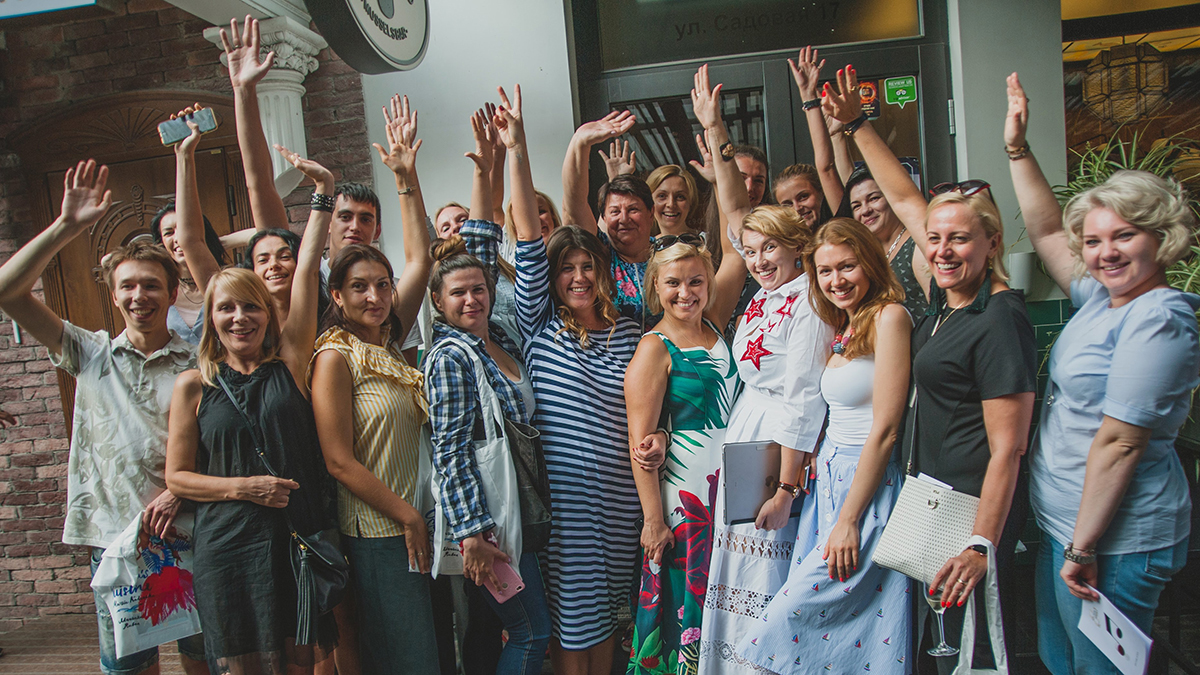 """Participants of lesson """"Like Local"""" at Kotelok. Cooking class in """"My Friends"""" cooking school."""