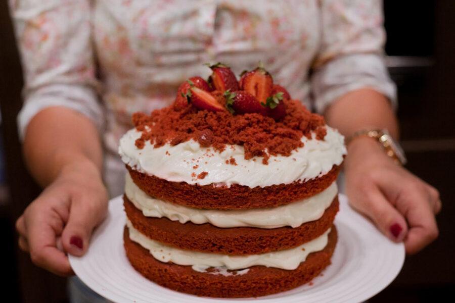 Урок «Red Velvet Cake». Кулинарная школа «Мои друзья» в Одессе.