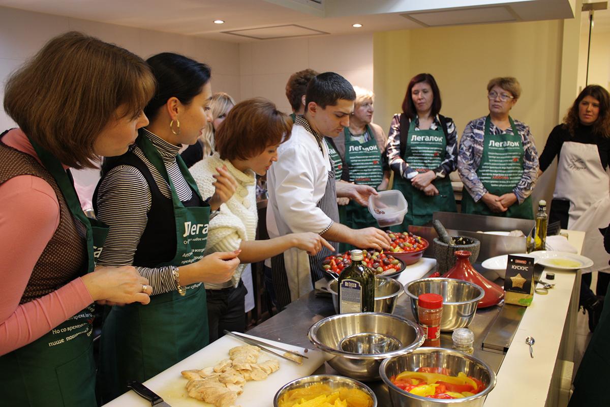 Шеф-повар Андрей Гаврилюк - кулинарный мастер-класс для фармацевтической компании.