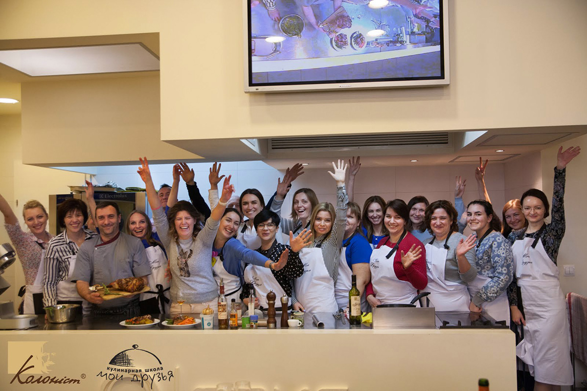 """Lesson """"Sunday Roast"""". Cooking class at """"My Friends"""" cooking school in Odessa."""
