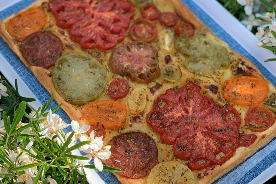 Provençal tomato tart. Best cooking recipes with step-by-step photos.