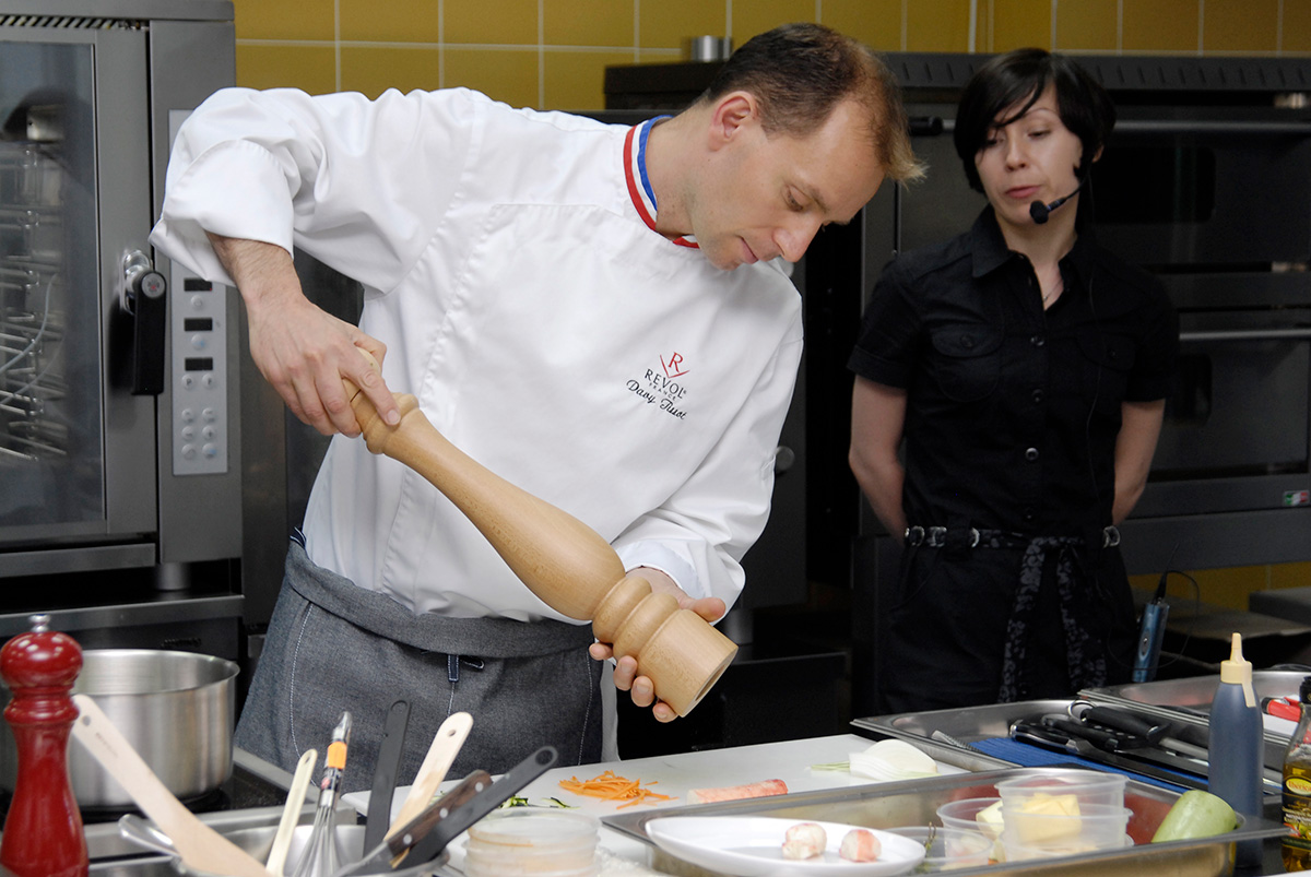 Visit of the Famous French Chef David Tissot. Cooking classes in Odessa.