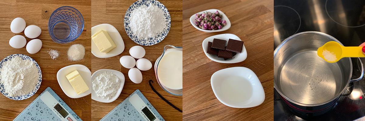 Продукты для пироженки