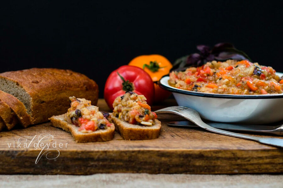 Aubergine dip. Cooking tips from famous chefs.
