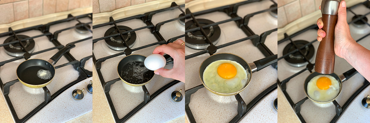 Готовим яичницу