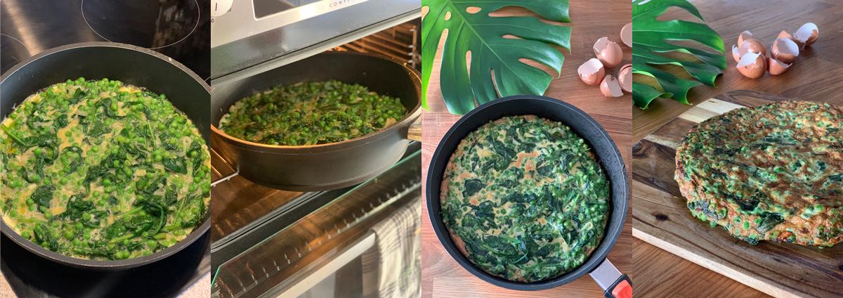 Зеленая тортилья - запекаем в духовке до готовности
