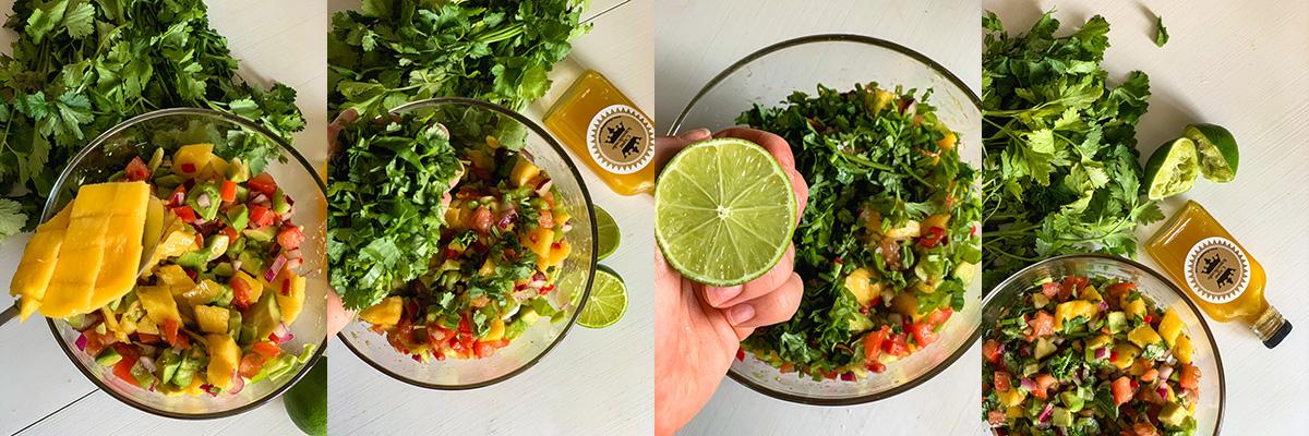 Салат с манго. Рецепт Mango Pico de Gallo. Самые вкусные блюда одесской кухни в кулинарном блоге Марии Каленской.