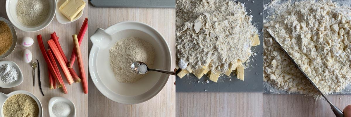 Пирог с ревенем и франжипаном